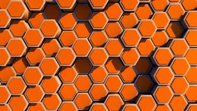 Abstract hexagon geometry background Stock Photography