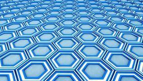 Abstract hexagon geometry background Stock Images