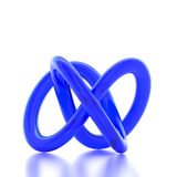 3D rendering abstract knot. On white background Stock Photo