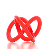 3D rendering abstract knot. On white background Royalty Free Stock Images