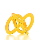 3D rendering abstract knot. 3D rendering yellow abstract knot Royalty Free Stock Image