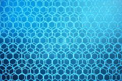 3D rendering abstract nanotechnology hexagonal geometric form close-up. Graphene atomic structure concept, carbon. Structure stock illustration
