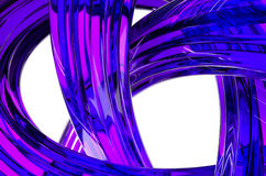 3D Rendering of Abstract Object, Purple Glass Surface Royalty Free Stock Photography