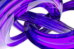 3D Rendering of Abstract Object, Purple Glass Surface Royalty Free Stock Images