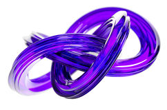 3D Rendering of Abstract Object, Purple Glass Surface Stock Images
