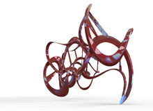 3d rendering of abstract organic looking geometry forms Royalty Free Stock Photography