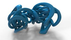 3d rendering of abstract organic looking geometry forms Stock Images