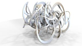 3d rendering of abstract organic looking geometry forms. On white Stock Photography