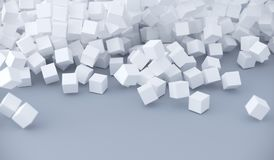 Abstract Pile Of Cubes. 3D Rendering Of Abstract Pile Of Cubes Background Royalty Free Stock Photos