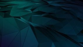3D rendering abstract polygonal space low poly with connecting surface. Futuristic HUD background Stock Image