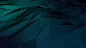 3D rendering abstract polygonal space low poly with connecting surface. Futuristic HUD background Stock Photos