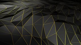 3D rendering abstract polygonal space low poly with connecting surface. Futuristic HUD background Stock Photo