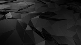 3D rendering abstract polygonal space low poly with connecting surface. Futuristic HUD background Royalty Free Stock Images