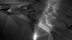 3D rendering abstract polygonal space low poly with connecting surface. Futuristic HUD background Royalty Free Stock Photos