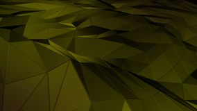 3D rendering abstract polygonal space low poly with connecting surface. Futuristic HUD background Royalty Free Stock Photo