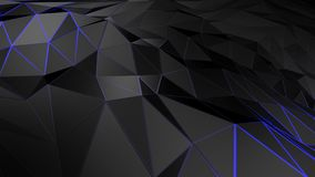 3D rendering abstract polygonal space low poly with connecting surface. Futuristic HUD background Stock Photography