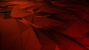 3D rendering abstract polygonal space low poly with connecting surface. Futuristic HUD background Royalty Free Stock Photography