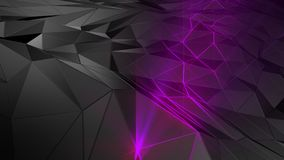 3D rendering abstract polygonal space low poly with connecting surface. Futuristic HUD background Stock Images