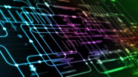 3D Rendering of abstract programming software flow chart with blur digital binary background. royalty free illustration