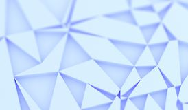 Abstract Random Rectangle Forms. 3D Rendering Of Abstract Random Rectangle Forms With Blue Tint Stock Photography