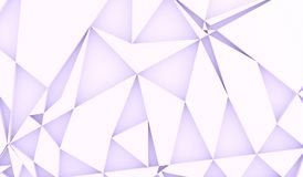 Abstract Random Rectangle Forms. 3D Rendering Of Abstract Random Rectangle Forms With Purple Tint Royalty Free Stock Image
