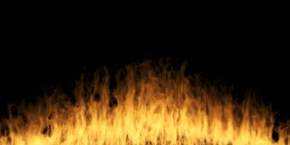 Abstract Realistic Fire On Dark Background. 3D Rendering Of Abstract Realistic Fire On Dark Background Stock Image