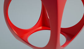 3D rendering for abstract red cube Royalty Free Stock Image