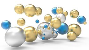 3d rendering. Abstract 3d shapes. Balls on a background. Abstract. 3D rendering. 3d image Stock Photo