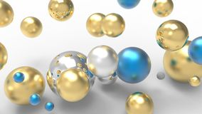 3d rendering. Abstract 3d shapes. Balls on a background. Abstract. 3D rendering. 3d image Royalty Free Stock Photos