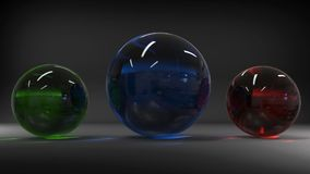 3d rendering. Abstract 3d shapes. Balls on a background. Abstract. 3D rendering. 3d image Royalty Free Stock Photo
