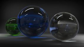 3d rendering. Abstract 3d shapes. Balls on a background. Abstract. 3D rendering. 3d image Stock Image