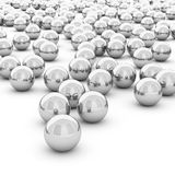 3d rendering abstract sphere. On white background Royalty Free Stock Photo