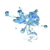 3D Rendering Abstract Splash of Water on White. 3D rendering of an abstract splash of water isolated on white background Stock Photo