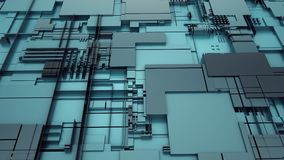 3d rendering of abstract technology. Background light-blue Royalty Free Stock Photo