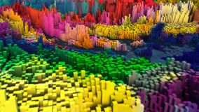 Abstract topography and colors. 3d rendering. Abstract topography and colors Royalty Free Stock Photo