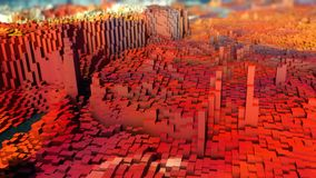 Abstract topography and colors. 3d rendering. Abstract topography and colors Stock Images