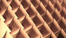 3D Rendering Of Abstract Twisted Pyramids. Background Stock Photography