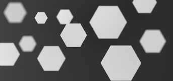 Abstract White Hexagon Background. 3D Rendering Of Abstract White Hexagon Background Top View Stock Image
