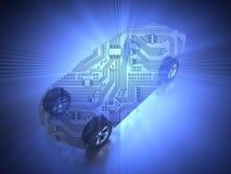 3D rendering: abstrakcjonistyczny samochód i carbody royalty ilustracja