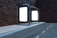 3d rendering, advertising billboard on the side of road. Computer digital image frame advertise banner display promo field concept message light traffic white vector illustration