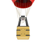 3d rendering of an air balloon basket with gas burners isolated on white background. Air travel. Hot air balloons. Sightseeing and travelling Royalty Free Stock Photography