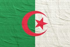 Algeria flag waving. 3d rendering of Algeria flag stock photo