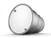3D rendering aluminum barrel Royalty Free Stock Photos