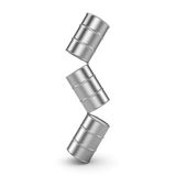 3D rendering aluminum barrel Stock Photos