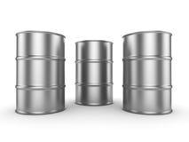 3D rendering aluminum barrel Royalty Free Stock Photo