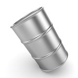 3D rendering aluminum barrel. On a white background Royalty Free Stock Photo