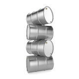 3D rendering aluminum barrel. On a white background Stock Images