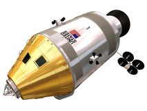 3d rendering of a Apollo Command Module/Service Module Royalty Free Stock Image
