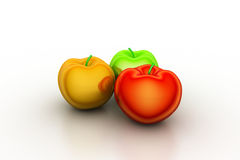3d rendering apples Royalty Free Stock Photo