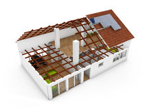 3d rendering of an architecture model Stock Photos